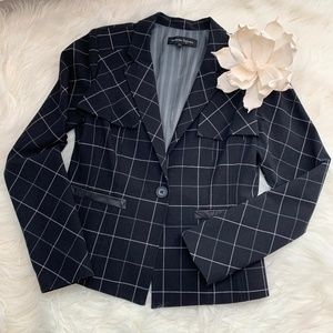 Nanette Lepore Fitted Blazer with Leather Accents